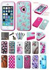 FOR iPhone 5s 5 Verge 3-layer Slim Hybrid Armor Phone Cover Fitted Skin Case