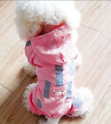 Fashion Pink/Red Pet Dog Reflective Waterproof Clothes Hoodie Costume Coat Hoody