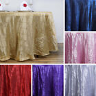 """1 Dozen PINTUCK 132"""" ROUND 12 TABLECLOTHS Wedding Party Catering Reception Prom"""