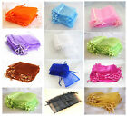 50/30 Organza Wedding Festive Party Gift Jewellery Bag Pouch 9.5x11.5cm 11 Color
