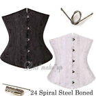 Popular 24 Spiral Steel Boned Waist Training Cincher Underbust Corset Size S-6XL