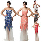 STOCK Lace Mermaid Formal Wedding Long Evening Party Prom Dress Bridesmaid Dress