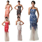 Celeb Mermaid Style Lace Bridesmaid Wedding Long Evening Prom gown Dress 6 8 10+