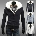 Sexy Men Warm Coat Hoodies HI-Q Fleece Casual Windbreaker Overcoats Jackets Tops