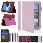 """PU Leather Folio Case Stand Cover For Samsung 7"""" 2 7.0 Tablet P3100 w/ Pen+Film"""