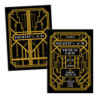 Personalised birthday party invitations ART DECO 1920s GOLD FREE ENVELOPES & DRA