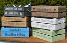 Personalised Apple Crate / Wooden / Planter/ rustic crate /Wedding Crate/hamper