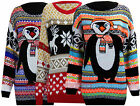 Womens Jumper Ladies Multi Colour Christmas Festive Winter Plus Size Xmas P36
