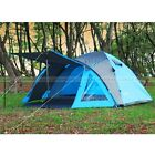 Pro Outdoor Camping Holiday Festival Hiking Waterproof  3- 4 Man 2 Room Tent New