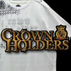 NEW AUTHENTIC MEN'S CROWN HOLDER  T-SHIRTS WHITE AND SILVER NEW WITHOUT TAGS