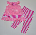 NEW Baby Girl Cotton Dress Pink with White dot Set Size 0000,000,00,0,1,2