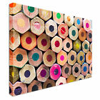 Group of pointless colored pencils Canvas Art Cheap Wall Print Large Any Size