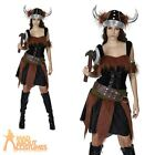 Adult Viking Lady Costume Warrior Princess Fancy Dress Womens Ladies Outfit New
