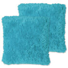 "Very Soft & Comfy Plush Long Faux Fur 18"" x 18"" Throw Pillows 2 pack"