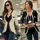 Fashion Korean Slim Casual OL Women Lady Suits Blazer Outerwear Coat Tops S-XL