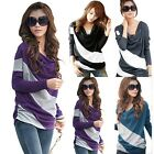 Fashion Lady Casual Batwing Dolman Loose Shirts Jumper Tops Blouses Long Sleeve