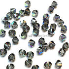4mm Black Diamond AB (215 AB) Swarovski crystal 5328 / 5301 Loose Bicone Beads