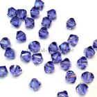 4mm Tanzanite (539) Genuine Swarovski crystal 5328 / 5301 Loose Bicone Beads