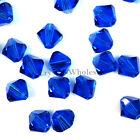 3mm Capri Blue (243) Genuine Swarovski crystal 5328 / 5301 Loose Bicone Beads