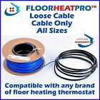 Electric Undertile Heating Cable ALL SIZES - CABLE ONLY - Bathroom Wetroom