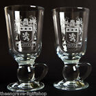 Family Coat of Arms - Irish Coffee Glasses - Heraldic Crest - Family Gift