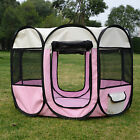 Portable Pet Tent Playpen Puppy Dog Cage Crate Fence Exercise Enclosure 8 Panels