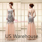 2014 Mermaid Sequins Long Homecoming Prom Dresses Formal Evening Gowns