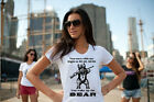 New Right to BEAR arms 2nd AMENDMENT angry grizzly white tee shirt womens ladies