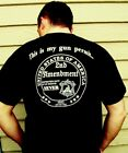 New This is my GUN PERMIT 2nd Amendment white BACK Black mens mens tee shirt
