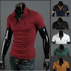 Stylish Mens Casual Designed T-Shirts Tops POLO Tee Short Sleeve Slim Fit 6Color