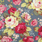 By the 1/2yard or 1yard 100% Cotton Floral Fabric Quilting Sewing Craft f-199