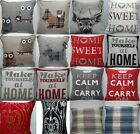 HEAVY PLAIN CUSHION COVERS 18X18 INCHES 46CM X 46CM BEDROOM LOUNGE ROOMS /GIFTS