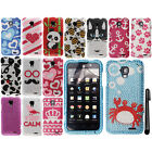 For ZTE Mustang Z998 BLING DIAMOND CRYSTAL HARD Protector Case Cover Phone + Pen