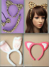LEOPARD CAT COUGAR EARS HEADBAND or EARS HEADBAND, NECK BOW TIE & TAIL SET SEXY