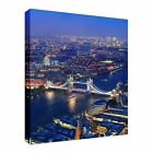 London aerial view Night Time Canvas Art Cheap Wall Print Any Size