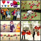 """NEW 18"""" Inch Foil Heart Balloon 7 Colors To Choose Helium Metallic Wedding Party"""