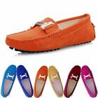 Womens Bowknot Flat Metal Loafers Moccasins Casual Ballet Comfort Boat Shoes