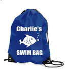 SWIMMING SWIM PERSONALISED GIRLS BOYS FISH GYM PE SCHOOL SPORTS BAG