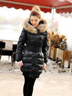Women's Hooded Slim Fit Long Outdoor Parka Puffer Real Fur Duck Down Coat Jacket