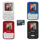 MP3 Player FM Radio Full-Color Disp  Voice Recorder Stopwatch SanDisk 4GB