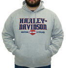 Harley-Davidson Mens Legendary B&S Pullover Grey Long Sleeve Hoodie Jacket