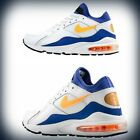 Men's Nike Air Max 93 OG Retro White/Bright Citrus-Hyper Blue 306551-100