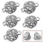5X  Strong Magnetic Clasps Round Crystal Rhinestone Jewelry Findings 9mm