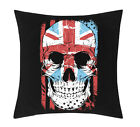 Exclusive - British Skull Flag Sublimation Cushion Cover (C017)
