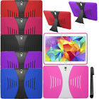 For Samsung Galaxy Tab S 10.5 T800 KICKSTAND HYBRID Rubber HARD Case Cover + Pen