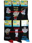 6 Mens Family Guy 100% Official Cartoon Novelty Character Socks / UK 6-11