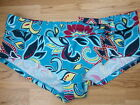 LEPEL LILLY TURQUOISE floral bikini bottoms shorts bnwt size 12 14-