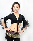 New Sexy Belly Dance Costume Flared Sleeve Blouse Top Bra 8 Colours