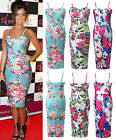 Sexy Ladies Floral Sleeveless Bodycon Dress Top Summer Holiday Slim Pencil 7SIZE