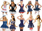 Ladies Sailor Costume Collection Navy Red White Nautical Sea Hen Night Halloween